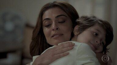 Bibi pede ajuda do filho para deixar vida bandida - Ela explica para Dedé que não consegue mais manter o estilo de vida que levavam com Rubinho