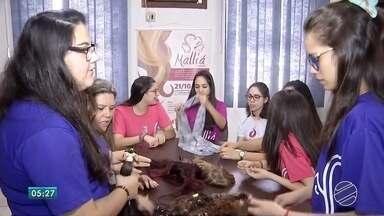 Projeto em Dourados confecciona perucas para mulheres em tratamento de câncer - Queda dos cabelos é o momento mais delicado para a mulher durante o tratamento.