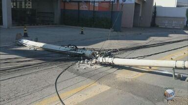 Quase 560 acidentes causaram quedas de postes em todo o Sul de Minas - Quase 560 acidentes causaram quedas de postes em todo o Sul de Minas