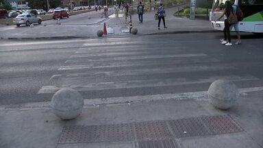 Má conservação de faixas coloca pedestres em risco no DF - O DF tem 7 mil faixas de pedestres. Mas a má conservação tem colocado os pedestres em risco.