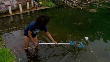 Moradores do Gama fazem mutirão de limpeza na Barragem do Trampolim - O grupo, formado há cinco anos nas redes sociais, sempre se reúne para recolher lixo em áreas verdes da cidade.