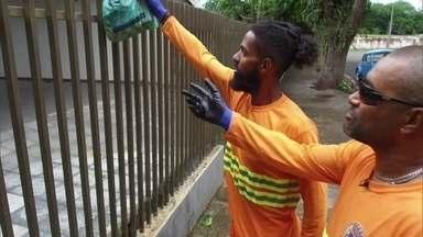 Garis ensinam como descartar lixo de forma correta e viralizam na internet - Vídeos de Kennedy e Romildo já têm mais de 600 mil visualizações. Número é mais de cinco vezes maior que a população de Umuarama (PR).