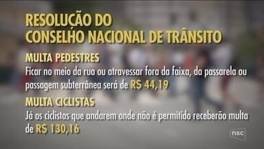 Resolução prevê multa para pedestres infratores - Resolução prevê multa para pedestres infratores