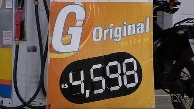 Motoristas reclamam de aumento no preço de combustíveis em Goiânia - Em alguns postos, litro da gasolina chegou a R$ 4,59.