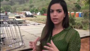 Ponte cai e deixa 48 feridos em Laranjal - Uma estrutura metálica foi montada para um evento evangélico realizado na cidade.