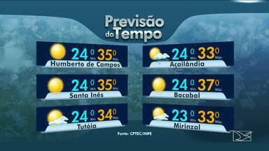 Veja as variações das temperaturas no Maranhão - Previsão para esta sexta-feira (3) será de sol entre nuvens na maior parte do Maranhão.