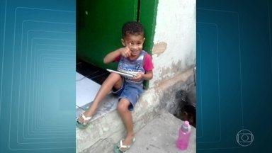 Família do menino Vítor decide doar os órgãos dele - O menino de três anos foi baleado dentro de casa.