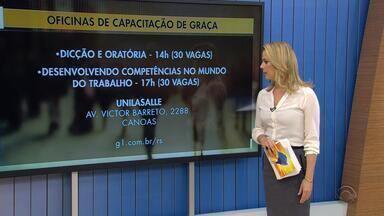 Feira de oportunidades oferece mais de 400 vagas em Canoas - Inscrições para oficinas devem ser feitas pela internet. Evento acontece nesta quinta-feira (9), na Universidade La Salle.