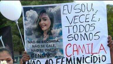Famílias de vítimas de feminicídio se reúnem em manifestação e pedem justiça - Famílias de vítimas de feminicídio se reúnem em manifestação e pedem justiça