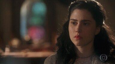 Tereza é repreendida por sua aproximação com Fernão - Delfina a proíbe de se casar com Fernão