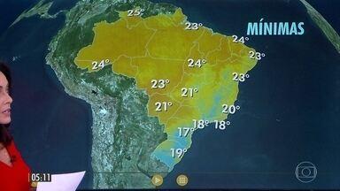 Alerta de temporais em SP, MS, norte e oeste do PR e no sul de MG - Confira a previsão do tempo para o final de semana em todo Brasil.