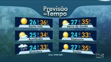 Veja as variações das temperaturas no Maranhão - Nebulosidade variando em todo o Maranhão e em São Luís dia com possibilidade de chuva.