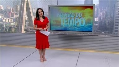 Tem alerta de temporal para todo o estado de SP, além de MS, PR e MG - Frente fria se desloca pelo litoral de São Paulo. Sem previsão de chuvas para o Nordeste, todo estado está sendo atingido pela seca.