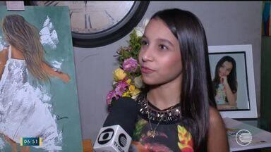 Exposição com obras de artista infantil chama atenção de visitantes no Piauí - Exposição com obras de artista infantil chama atenção de visitantes no Piauí