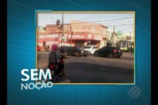 Quadro 'Sem Noção' flagra motorista dirigindo de forma imprudente em Belém - Ele pratica uma série de imprudências na avenida Pedro Alvares Cabral