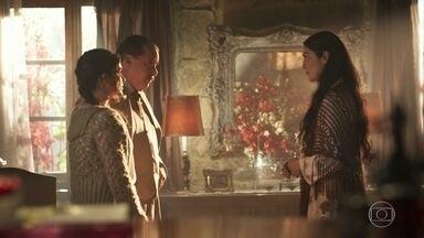 Delfina se incomoda com a presença de Angélica na Quinta - José Augusto orienta que ela seja muito bem tratada
