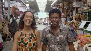 Renata e Aldri passeiam na Feira de São Joaquim; Briza dá dicas pro fim de semana - Renata e Aldri passeiam na Feira de São Joaquim; Briza dá dicas pro fim de semana