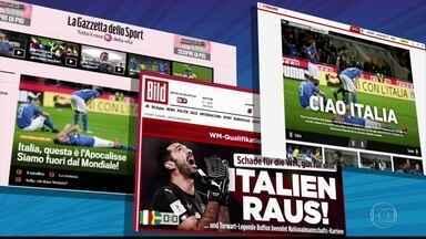 """Eliminação da Itália da Copa do Mundo repercute na imprensa internacional - Jornal La Gazzetta dello Sport chamou a eliminação de """"apocalipse, o fim do mundo""""."""