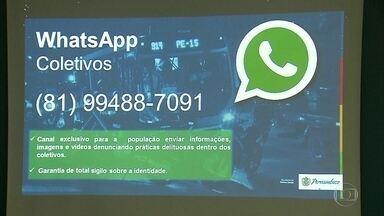 Denúncias de assaltos a ônibus podem ser feitas por mensagens - Polícia divulgou número para o qual as pessoas podem encaminhar denúncia