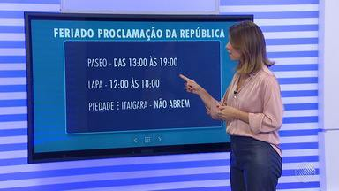 Saiba o que abre e o que fecha no feriado dessa quarta-feira (15) em Salvador - Nessa quarta (15) será lembrado o dia da Proclamação da República.