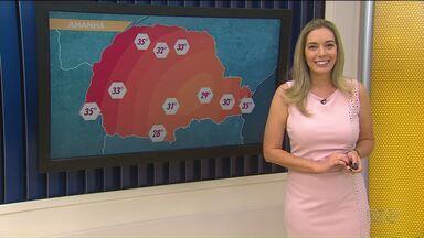 Quinta-feira será de sol nos Campos Gerais - As temperaturas ficam em torno dos 30 graus.