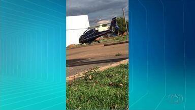 Moradores flagram helicóptero pousando em área residencial de Palmas - Moradores flagram helicóptero pousando em área residencial de Palmas