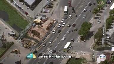 Obras na Avenida Pan Nordestina causam transtornos para motoristas e moradores - Via tem engarrafamento o tempo todo por causa das intervenções.