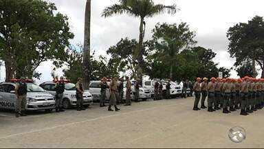 Garanhuns recebe 40 policiais militares para reforçar o 9º Batalhão - Batalhão também recebeu três novas viaturas para as operações da Patrulha Maria da Penha, Proteção ao Turista e Patrulha Escolar.