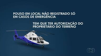 Pouso de helicóptero no centro de Palmas será investigado pela Anac - Pouso de helicóptero no centro de Palmas será investigado pela Anac