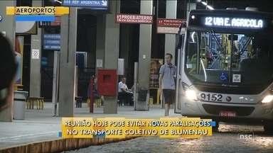 Reunião pode evitar novas paralisações no transporte coletivo de Blumenau - Reunião pode evitar novas paralisações no transporte coletivo de Blumenau