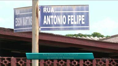 Mudança no trânsito de Paranavaí - Um trecho da rua Antônio Felipe vai ter sentido único.