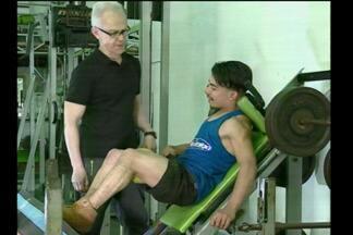 História de superação de um atleta de Santo Ângelo, RS - Ele vence as barreiras da paralisia cerebral.