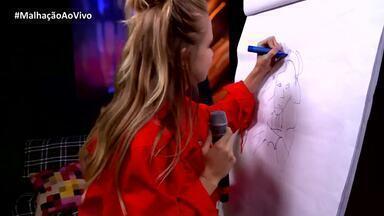 Isabella Scherer e Bruno Gadiol brincam de 'Qual é o Desenho?' - Atores tentam adivinhar qual é o personagem de Malhação
