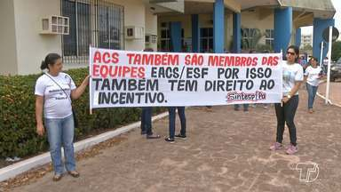 Agentes comunitários de saúde paralisaram as atividades e realizaram protesto na Câmara - Dentre as reivindicações, os manifestantes cobram a valorização e o pagamento de insalubridade.