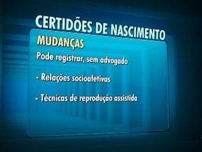 Novos modelos de certidões de casamento e nascimento são implantados - Documentos precisarão contar com o número do CPF.