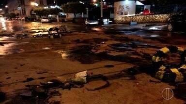 Chuva causa transtornos em algumas cidades do interior do Rio - Assista a seguir.