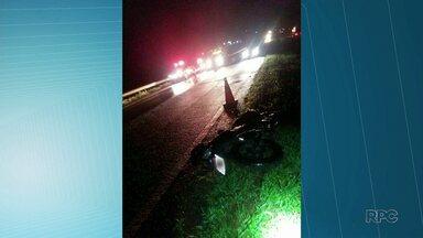 Motociclista morre em acidente na BR-376 - Foi em Ponta Grossa.