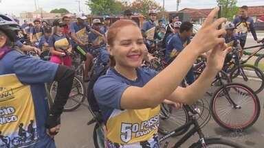 Confira a programação em comemoração ao aniversário de 40 anos de Ji-Paraná - Durante manhã foi realizada uma caminha ciclística e a noite a prefeitura da cidade se prepara para a realização shows e inauguração da iluminação natalina de Ji-Paraná.