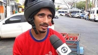 Motociclistas enfrentam problemas com falta de vagas disponíveis em Juazeiro do Norte - Saiba mais em g1.com.br/ce