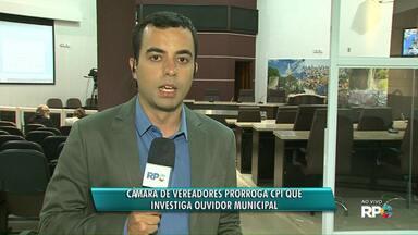 CPI que investiga o ouvidor de Guarapuava quer mais prazo para entregar relatório final - A CPI investiga a denuncia de que o ouvir não cumpria os horários na prefeitura.