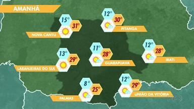 A quinta-feira deve ser mais um dia quente na nossa região - O sol deve aparecer entre nuvens em todas as cidades.