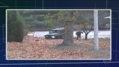 Imagens mostram fuga de soldado norte-coreano para a Coreia do Sul - Atingido por cinco tiros, soldado foi resgatado em estado grave. Médicos sul-coreanos dizem que ele está consciente e vai se recuperar. A cena inteira foi registrada por câmeras do lado sul-coreano e divulgada nesta quarta-feira (22).