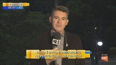 Preso é encontrado morto na Penitenciária Industrial de Joinville - Preso é encontrado morto na Penitenciária Industrial de Joinville
