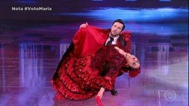 Maria Joana e Reginaldo Sama dançam o paso doble - Dupla apresenta final dramático para a dança