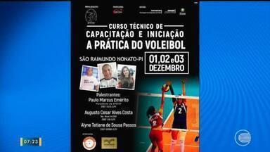 Curso de capacitação prática de voleibol leva incentivo esportivo ao interior do Piauí - Curso de capacitação prática de voleibol leva incentivo esportivo ao interior do Piauí