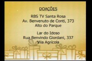 Mande sua doação para a campanha Natal do Bem - Os pontos de coleta são em supermercados de Santa Rosa, RS.