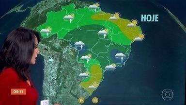 Dezembro começa com previsão de temporais em MG e ES - Previsão de chuva com rápidas aberturas de sol em SP e no RJ. Veja a previsão do tempo para todo o país.