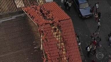 Cidades da Grande BH contam prejuízos com tempestade de granizo - Temporal só durou 20 minutos, mas o estrago foi grande.