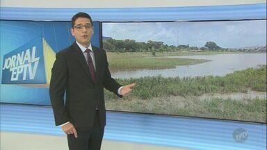 Lagoa do Remanso das Águas, em Hortolândia, está com assoreamento - Moradores reclamam da situação registrada lá.