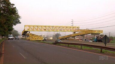 Novas passarelas da PR-445 só devem começar a ser construídas em 2018 - A previsão inicial era começar as obras ainda esse ano.